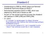 standard c