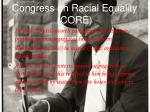congress on racial equality core