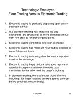 technology employed floor trading versus electronic trading