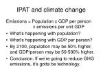 ipat and climate change34