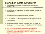 transition state structures
