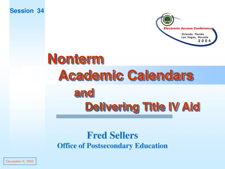 fred sellers office of postsecondary education n.