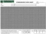 standardized work sheet