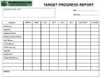 target progress report