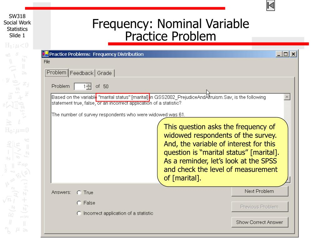 frequency nominal variable practice problem l.