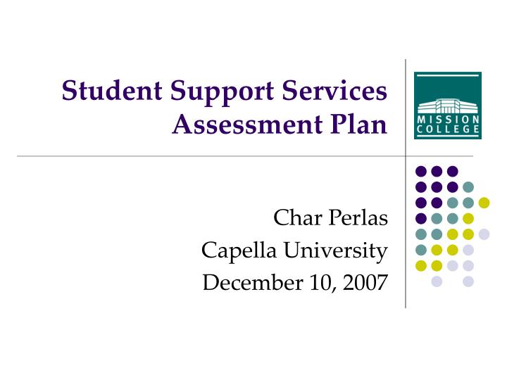 student support services assessment plan n.