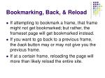 bookmarking back reload