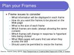 plan your frames