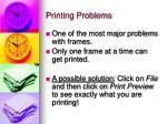 printing problems