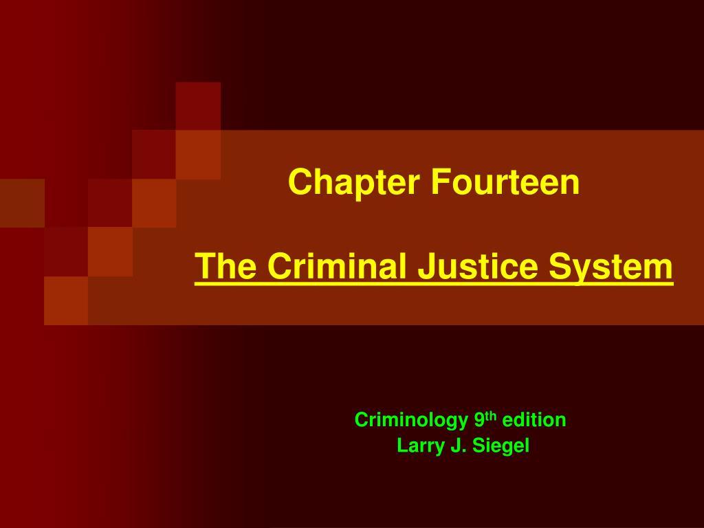 chapter fourteen the criminal justice system l.