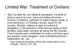 limited war treatment of civilians7
