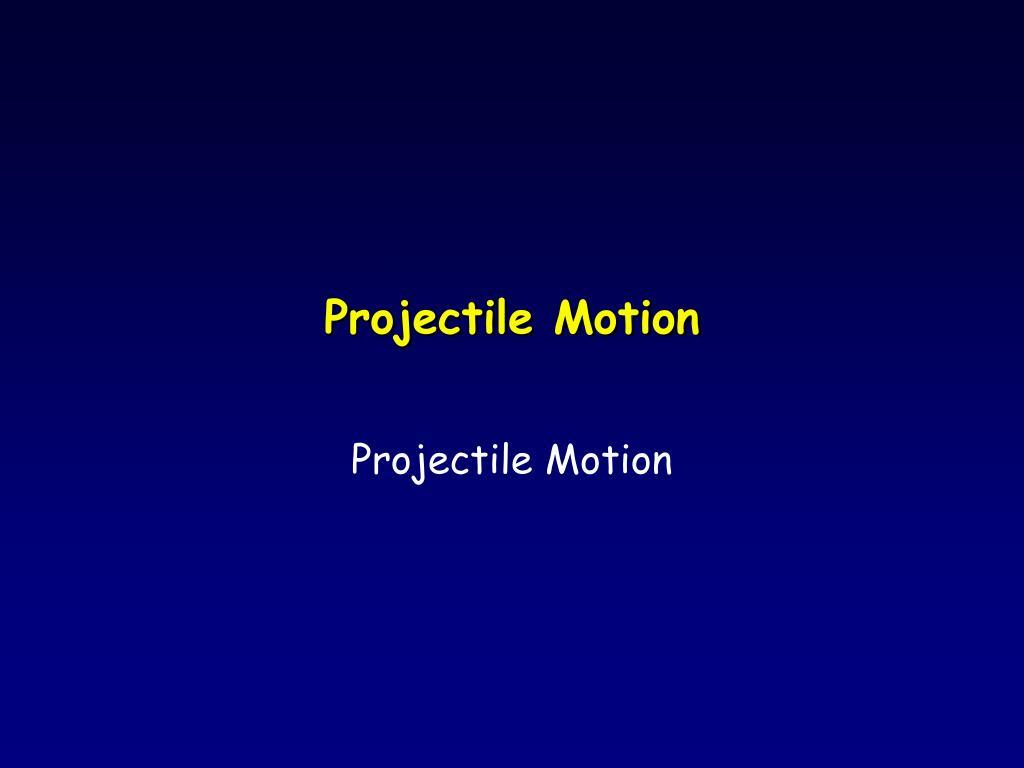 projectile motion l.