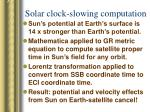 solar clock slowing computation