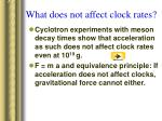 what does not affect clock rates