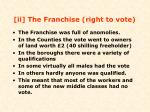 ii the franchise right to vote
