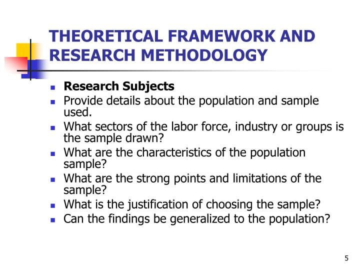 Ppt Theoretical Framework And Research Methodology