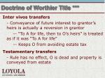 doctrine of worthier title
