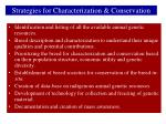 strategies for characterization conservation