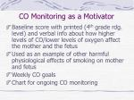 co monitoring as a motivator