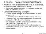 leases form versus substance