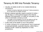 tenancy at will into periodic tenancy