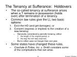 the tenancy at sufferance holdovers