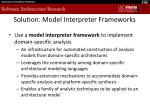 solution model interpreter frameworks