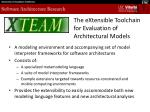 the extensible toolchain for evaluation of architectural models