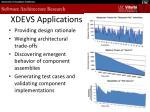 xdevs applications