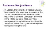 audience not just teens