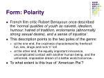 form polarity