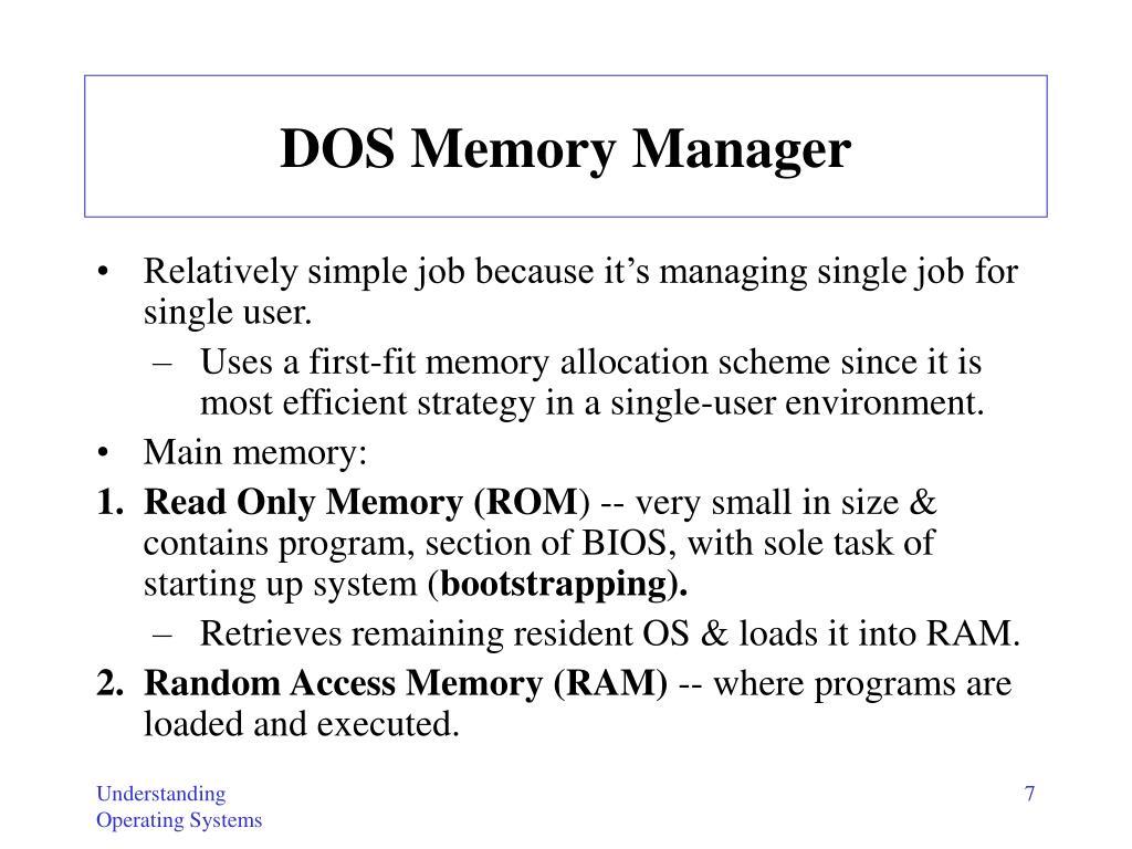 DOS Memory Manager