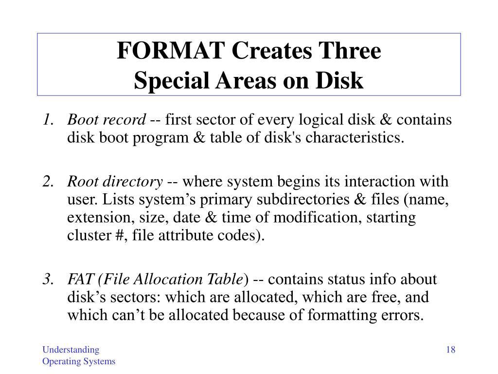 FORMAT Creates Three