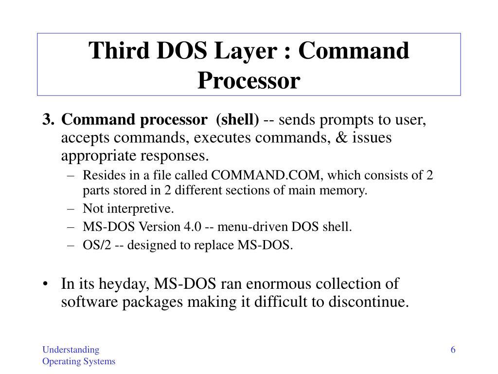 Third DOS Layer : Command Processor