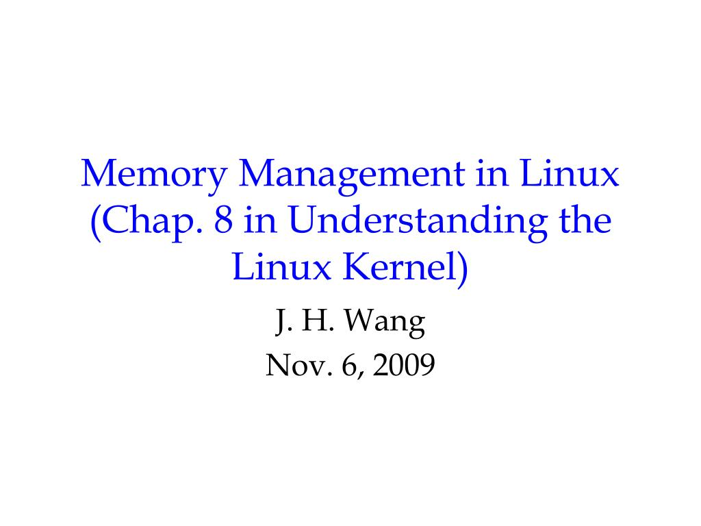 memory management in linux chap 8 in understanding the linux kernel l.