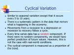 cyclical variation