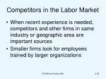 competitors in the labor market