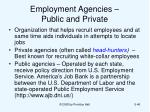 employment agencies public and private