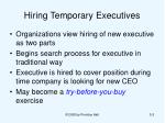 hiring temporary executives