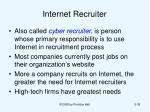 internet recruiter