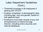 labor department guidelines cont
