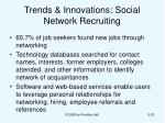 trends innovations social network recruiting