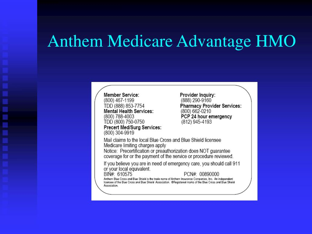 Anthem Medicare Advantage HMO