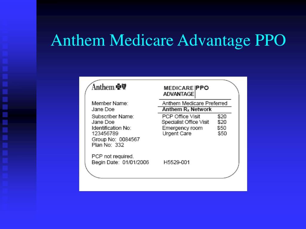 Anthem Medicare Advantage PPO