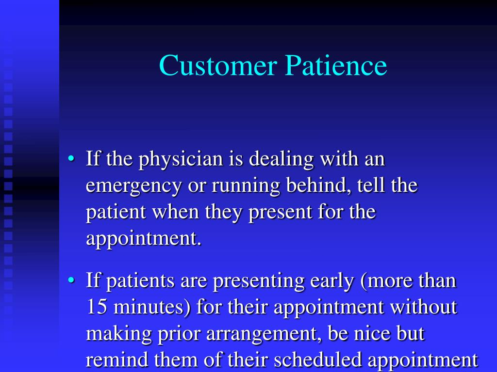 Customer Patience