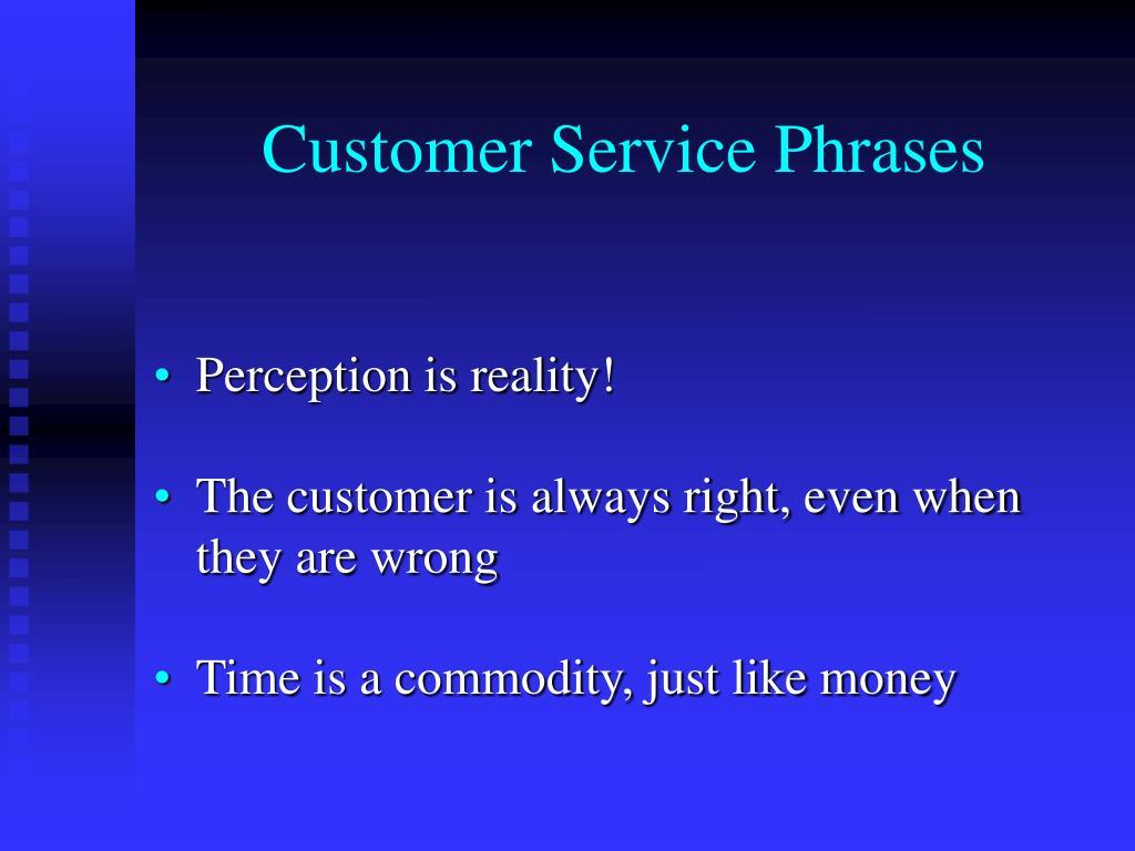 Customer Service Phrases