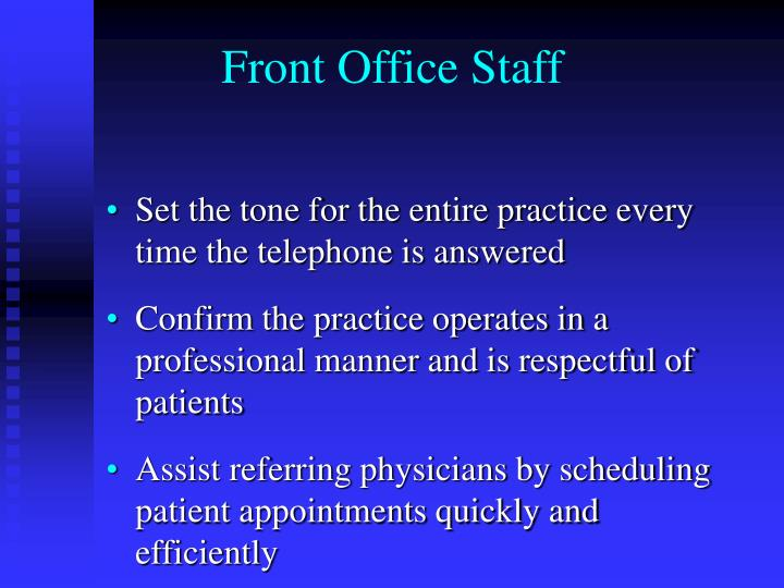 Front office staff