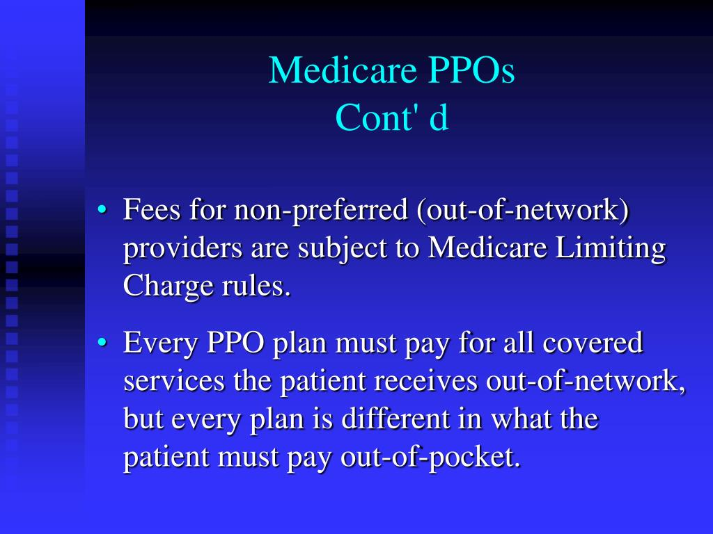Medicare PPOs