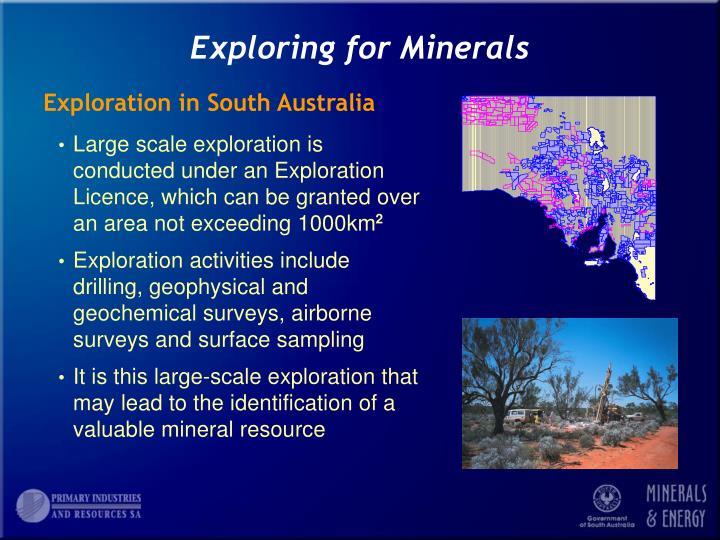 Exploring for minerals