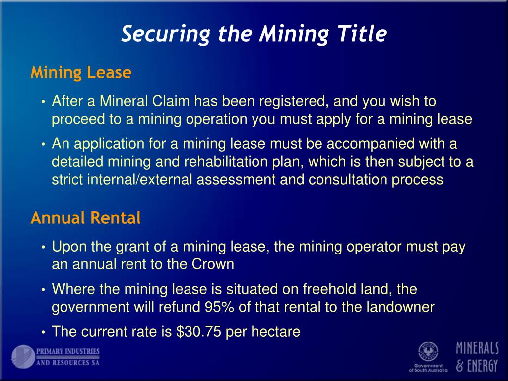 Securing the Mining Title